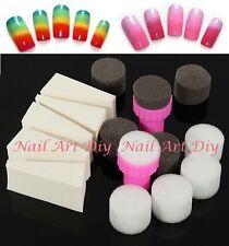 Nail Art Spugna Stamping-Stamper+Spugne di Ricambio-Effetto Sfumato DIY Manicure
