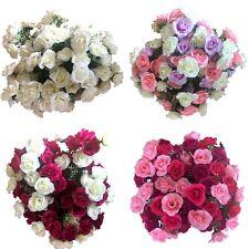 4x 21 Heads Rose Bunch Artificial Flower  Home Decor Bridal Bouquet Floral