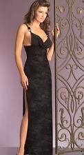 NEW BEAUTIFUL BLACK VELVET BURNOUT LONG GOWN DRESS GOTHIC S M L XL EVENING