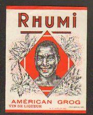 "NIVELLES (BELGIQUE) ETIQUETTE RHUM / GROG AMERICAN ""RHUMI"""