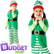 Santas Helper Elf Christmas Childrens Fancy Dress Xmas Childs Boys Girls Costume