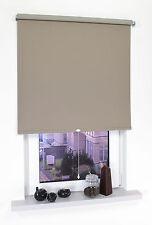 Verdunkelungsrollo Fenster Rollo Springrollo Mittelzugrollo Caffee 60-200 cm