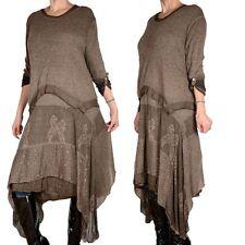 2 parties SUPERPOSITION TRICOT D' HIVER Maxi robe tunique pull écharpe 44 46 48