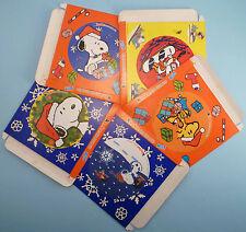 SNOOPY & WOODSTOCK big round stickers KINDER Megadesivi mega adesivi Natale 2000