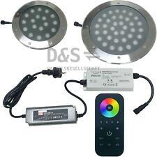 RGB LED Gartenbeleuchtung DMX-512 Set / WLAN / 18W o. 36W / inkl. App Steuerung