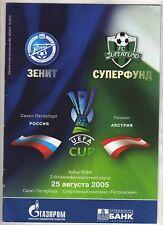 ORIG. PRG UEFA CUP 2005/06 ZENIT St. Petersburg-FC SUPER Fund Pasching!!!