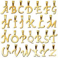 1 colgante letra alfabeto nombre cadena color oro mujer hombre acero inoxidable