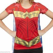 DC Comics Licensed Wonder Woman Suit Up Sublimated Caped Tee Custume T-Shirt