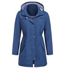 Raincoat Womens Rain Waterproof Jacket Ladies Hooded Coats Windproof Overcoat