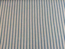 "Linen Ticking Stripe Teal Blue 140cm/54"" wide Curtain/Craft Fabric"
