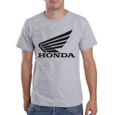 Genuine Honda CBR Superbike Motorcycle Freestyle Racing CRF Grey Men Tee T-Shirt