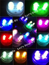 10 SUPERBRIGHT Premium DOUBLE LED Submersible Feather Party Wedding Tea Light