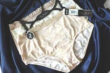 New Delta Burke panties briefs..set of 3..flower/beige/Tan..size L/1X/2X