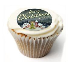 Cupcake Topper Christmas joy personalised Rice, Icing sheet 987