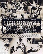 1940-41 BROOKLYN AMERICANS AMERKS NHL HOCKEY TEAM 8X10 PHOTO