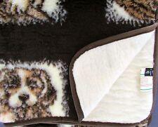 """Tapis de jeu """" chien """", lit supérieur, couverture pour chiens, laine mélangée,"""