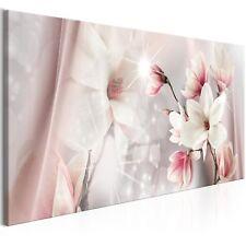 Wandbilder xxl Magnolien Blumen Abstrakt Leinwand Bilder Wohnzimmer b-B-0270-b-a