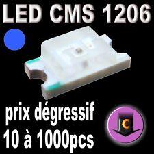 105# LED CMS 1206 Bleu 470nm 260mcd de 10 à 1000pcs
