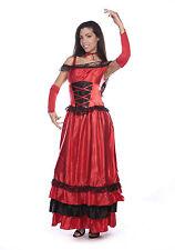 SENORITA SPAGNOLA RUMBA Salsa Flamenco Dancer Danza Donna Costume