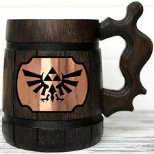 Legend Of Zelda Mug. Zelda Gift. Zelda Stein Gamer Gift Wooden Beer Tankard K100