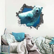 3D Bear sea 566 Wall Murals Stickers Decal breakthrough AJ WALLPAPER AU Lemon