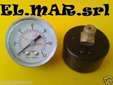 """MANOMETRO 12 bar attacco posteriore 1/8 """" compressore diametro 40"""
