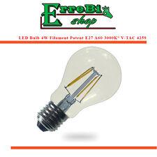 LAMPADINA A FILAMENTO LED E27 A60 4W 2700K LAMPADA LUCE CALDA ALTA LUMINOSITÀ