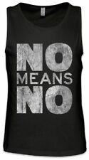 No Means No Herren Tank Top Sexismus Feminismus Emanzipation Feministin Feminist