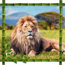 Sticker autocollant Cadre bambou Lion7114