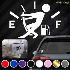 Fuel Gauge Empty Vinyl Decal Funny Car Truck Sticker | Laptop Stickman Fuel Door