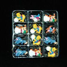 Winnie The Pooh, Eeyore, Tigger, Piglet, Roo Mini Christmas Ornaments