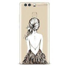 Coque souple avec impression fantaisie pour Huawei P9  ( Dos de fille )