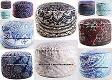 Mandala Pouf Ottoman Round Indian Ottoman Poof Pouffe Foot Stool Cover Decor