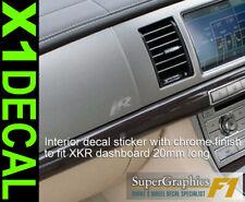 Intérieur Finition Chrome Tableau De Bord Décalque Autocollant pour s'adapter JAGUAR XKR x1