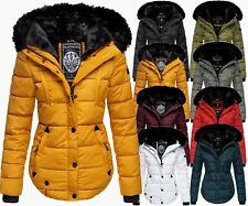 Marikoo Women's Winter Jacket Parka Coat Padded Hood Quilted Jacket Lotus Flower