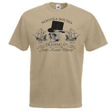 Mens Khaki Nootka Sound Trading Co T-Shirt Taboo Shipping Company TShirt