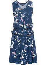 Damen Jersey-Kleid, 242785 in Dunkelblau bedruckt
