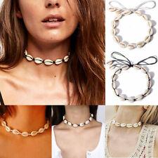 Stylish Beach Bohemian Sea Shell Pendant Chain Choker Necklace Jewelry Women