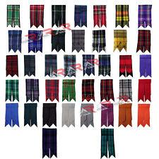 Kilt Flashes Scottish Royal Stewart Tartan Solid Plain Black Multi Color New AAR