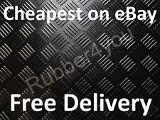 CHECKER-PLATE Studded Cab Garage Workshop Rubber Flooring Matting 1.2m x 3mm