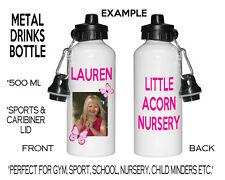 Personalizado De Metal Foto Sport Water Botella de bebida Escuela Nursery Minion Niños