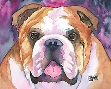 Bulldog Dog 11x14 signed art PRINT RJK painting