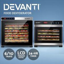Devanti Food Dehydrators Stainless Steel Jerky Dehydrator Fruit Dryer 6/10 Trays