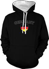 Germany Flag Crest Deutschland National Soccer Pride 2-tone Hoodie Pullover