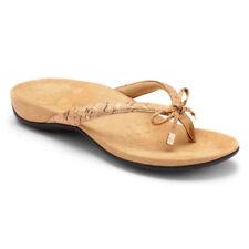 Women's Vionic Rest Bella Gold CorkToe Post Bow -Tie Sandal 100% Authentic New