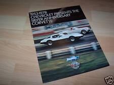 Dépliant pub / Brochure CHEVROLET Corvette 1978 //