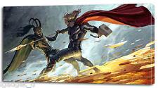 2 Sizes-  THOR CANVAS PRINT The Avengers Loki Home Wall Decor Art Movie Boys On