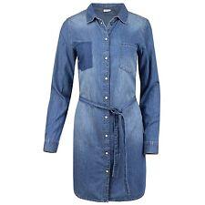 JACQUELINE de YONG Jeans Kleid Hemd Bluse Jeanshemd Stonewashed mit Bundegürtel