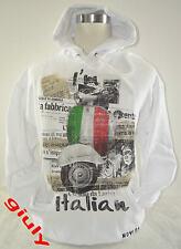 Felpa maglia VESPA ITALIA  bandiera simpatica Spiritosa IDEA REGALO uomo-donna