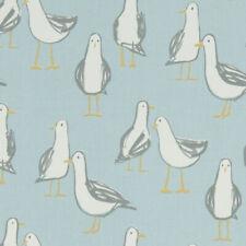 Clarke and Clarke Laridae Seagull  Duckegg 100% Cotton Fabric